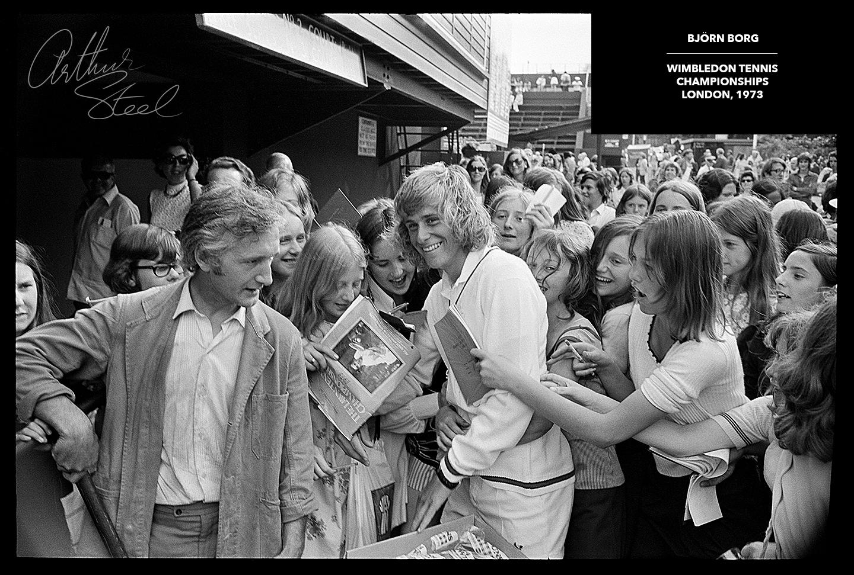 rare photograph bjorn borg wimbleon tennis championships