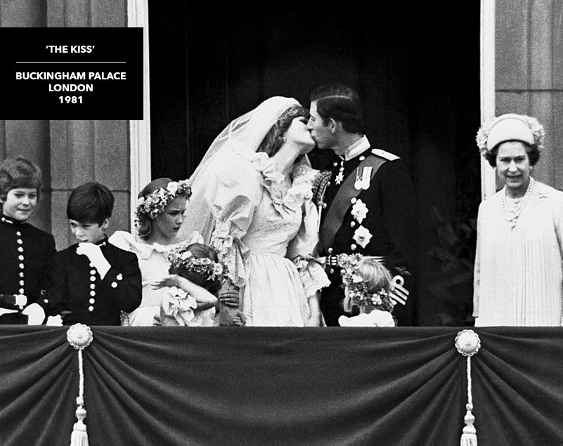 rare photograph kiss prince charles princess diana