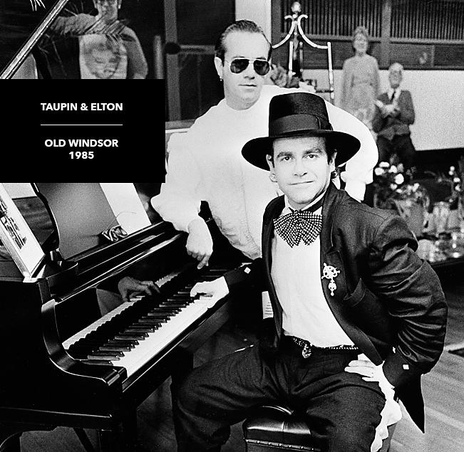 rare black and white photograph elton john bernie taupin
