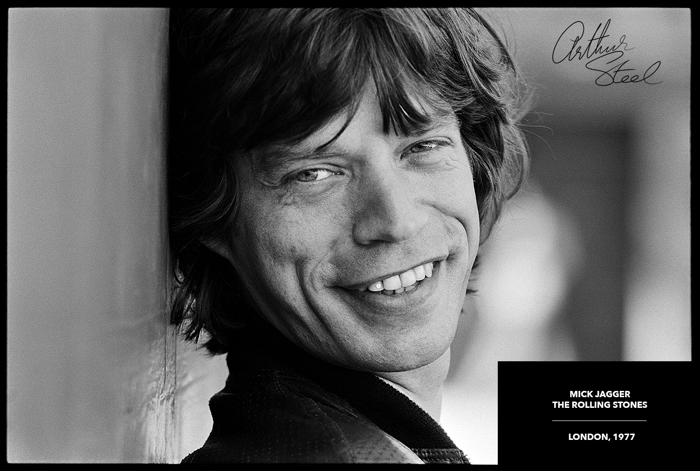 rare black and white photograph mick jagger the rolling stones forty licks