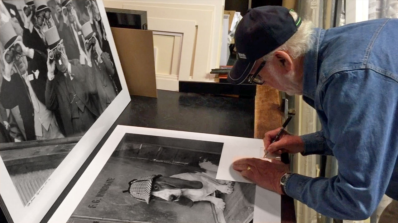 arthur steel signing a photographic print