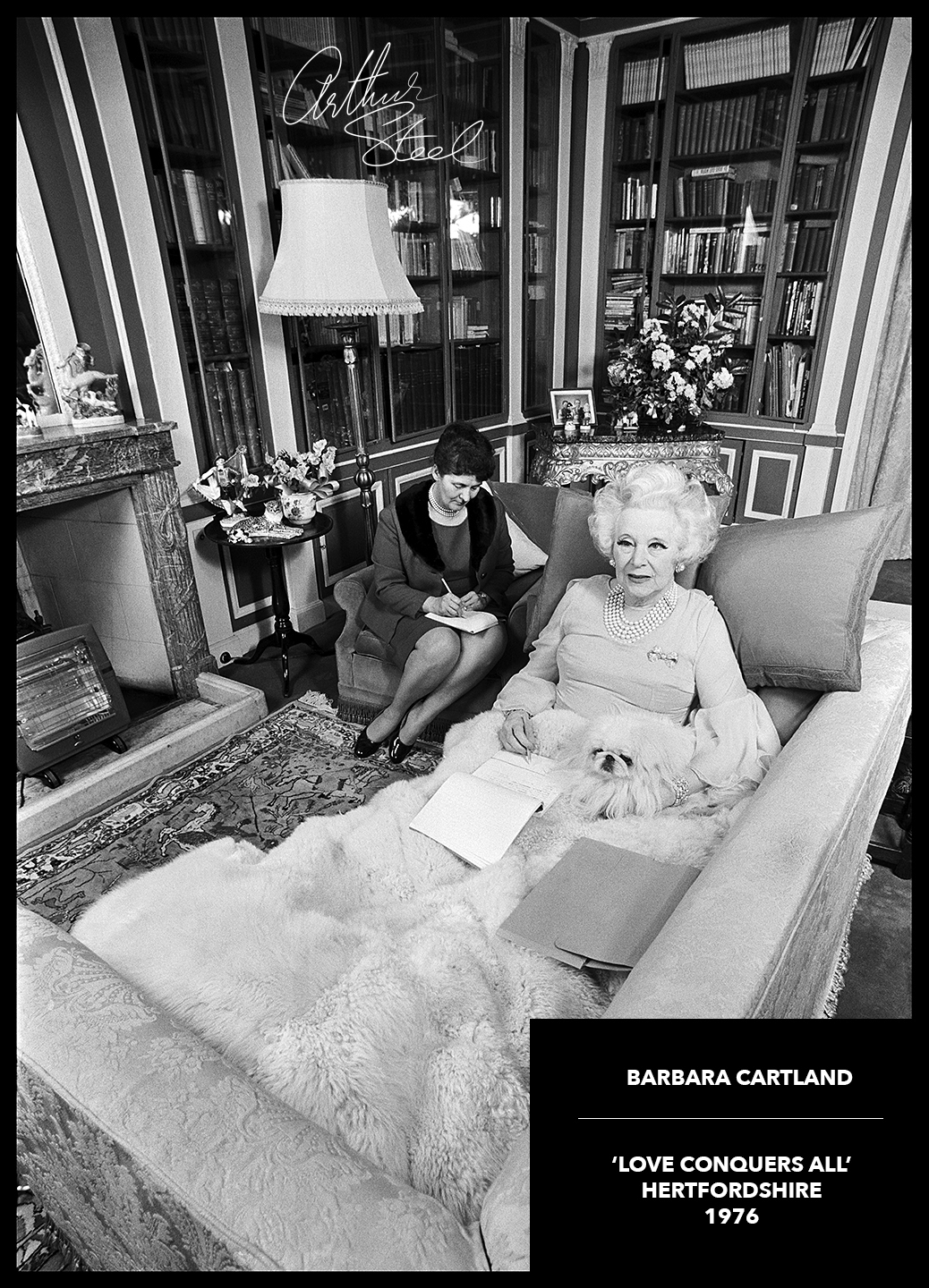 barbara_cartland_dictating_novel_photo_arthur_steel