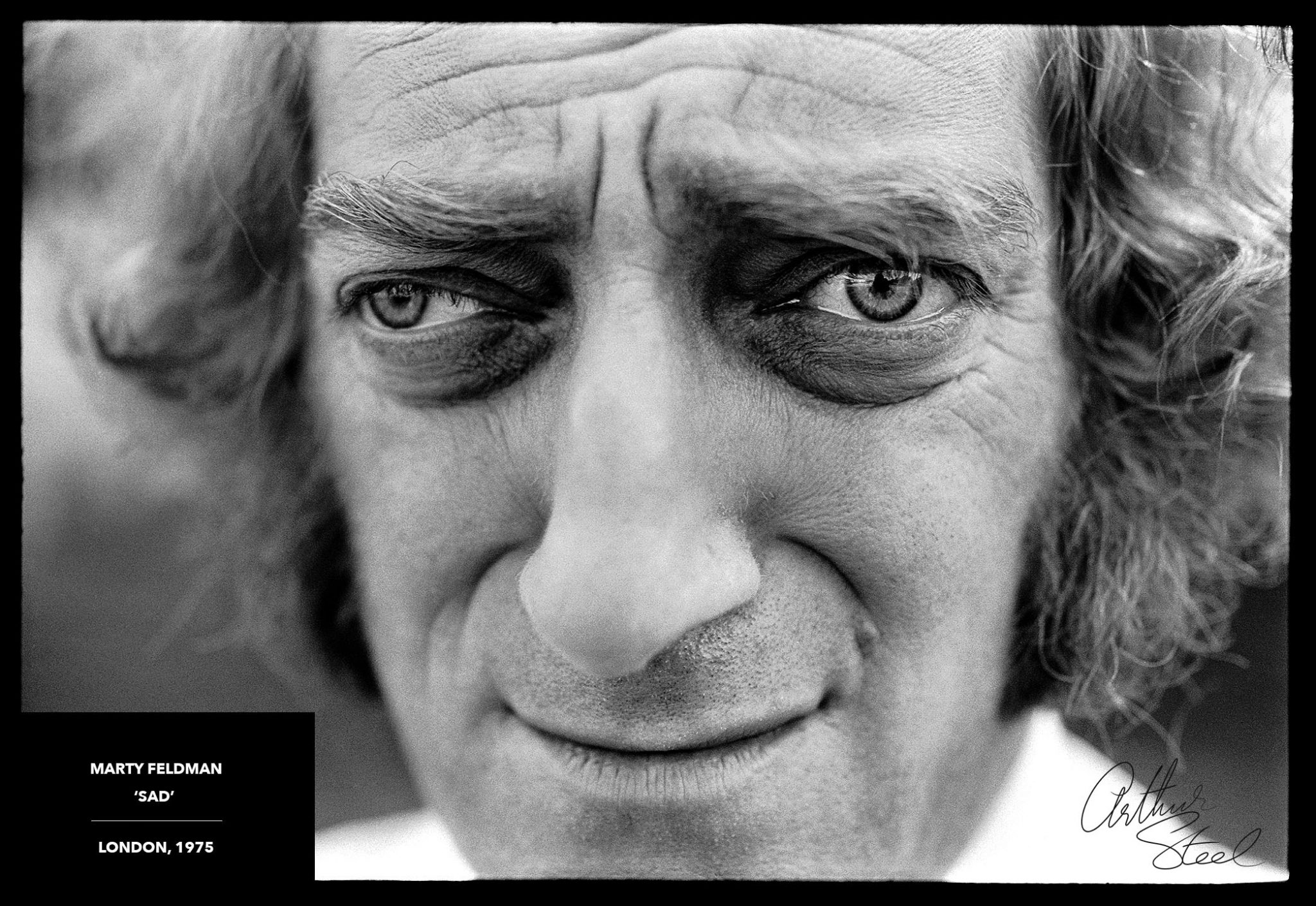 marty feldman sad rare photograph arthur steel