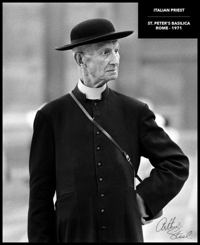 rare black and white photograph italian priest