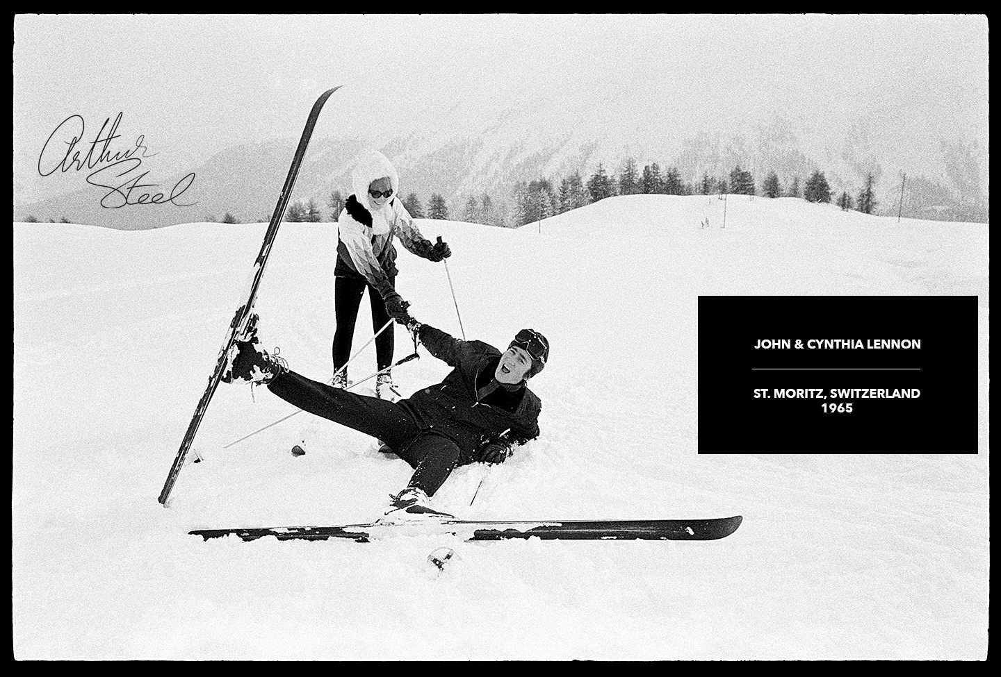john-and-cyntia-lennon-skiing-photograph-by-arthur-steel