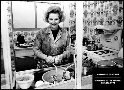rare black and white photograph margaret thatcher