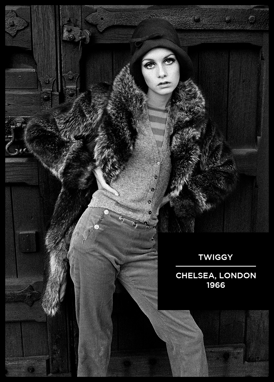 twiggy black and white photograph arthur steel