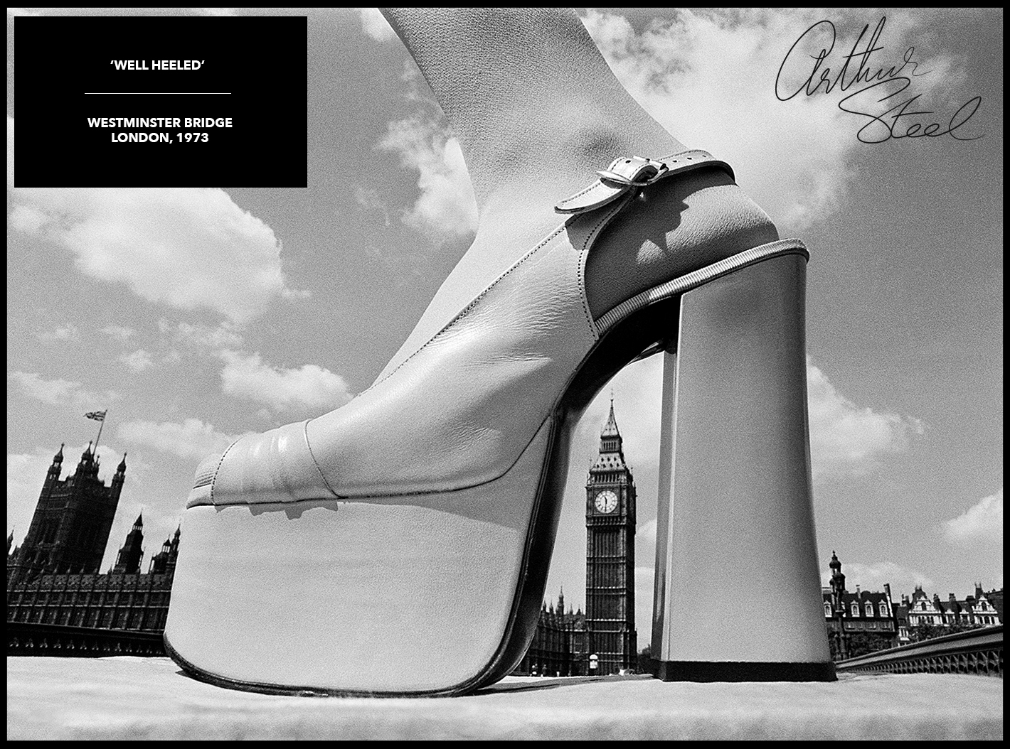 rare photograph platform shoe big ben london
