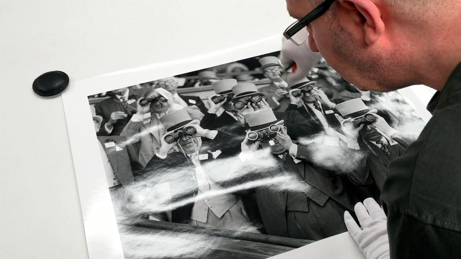metro imaging prepparing a black and white print of upper glasses for btitish photographer arthur steel